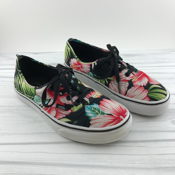 389067b341 Vans Tropical Floral Print Women s 7 Men s 5.5